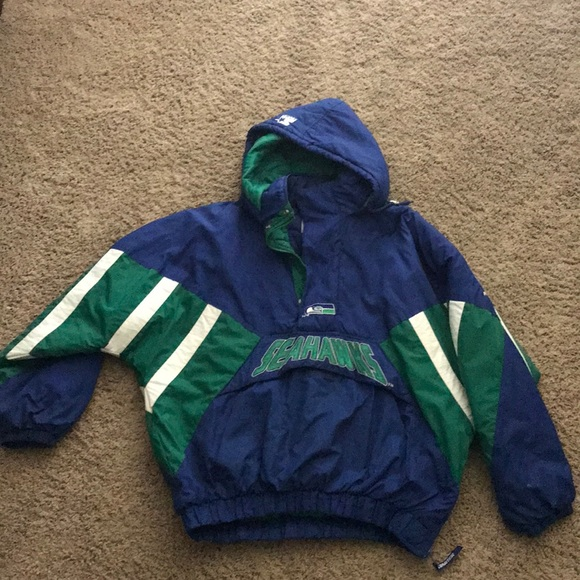83c17981 Seattle Seahawks Starter Jacket- XXL